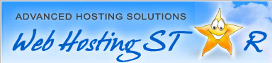 Web Hosting Star - asp and php scripting languages, emails, databases, statistics and responsive customer support
